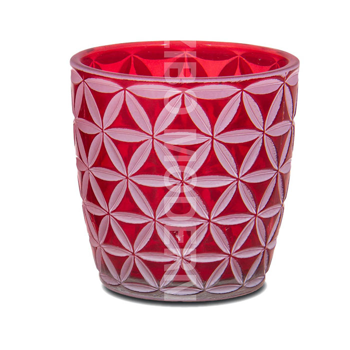 Colorful Romantic Frosted Tealight Glass Candle Holders - TL1016