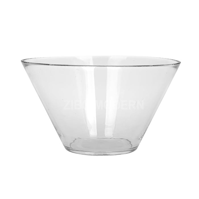 8 - Inch Clear Glass Serving Bowl - Glass Salad Bowl - Salad Mix Bowl - Glass Dinnerware